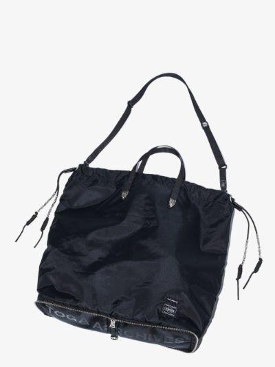 X Porter-Yoshida & Co. black tote bag