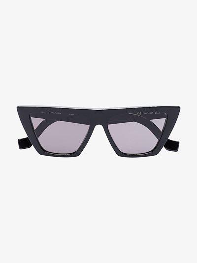 black Trapezium cat eye sunglasses