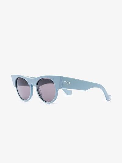 blue Icon round cat eye sunglasses