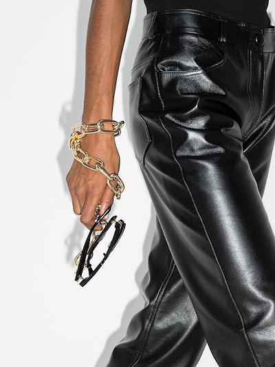 gold tone chain sunglasses strap