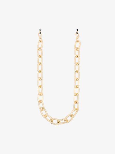 gold tone glasses chain
