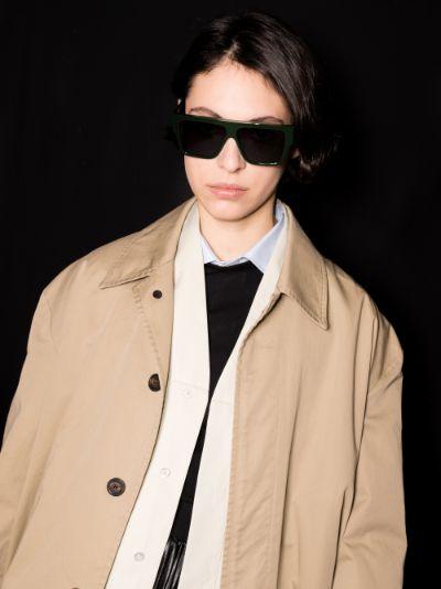 green Lazer square sunglasses