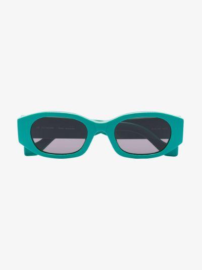 green Oblong oval sunglasses