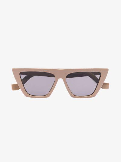 neutral Trapezium cat eye sunglasses