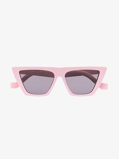 pink Trapezium cat eye sunglasses