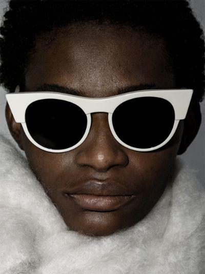 White Icon cat eye sunglasses
