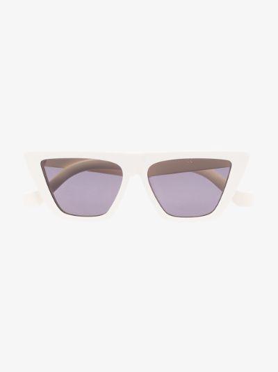 white Trapezium cat eye sunglasses