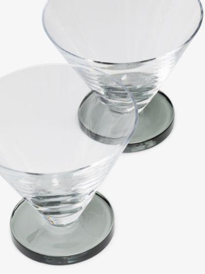 grey Puck Cocktail glass set