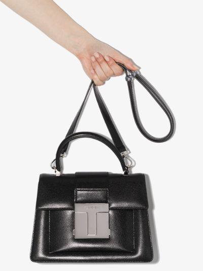 black 001 small top handle bag