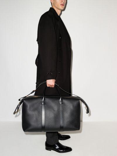 black Buckley leather holdall bag