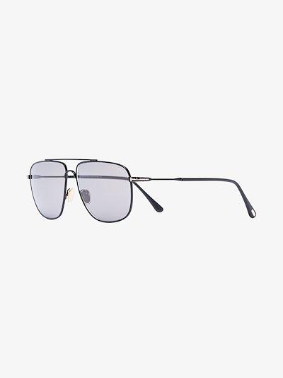 black Len aviator sunglasses