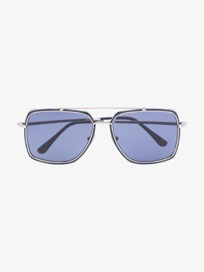 blue lionel square sunglasses