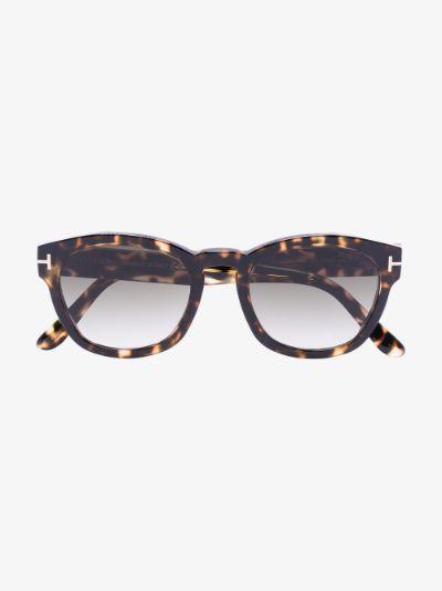 brown Bryan round sunglasses