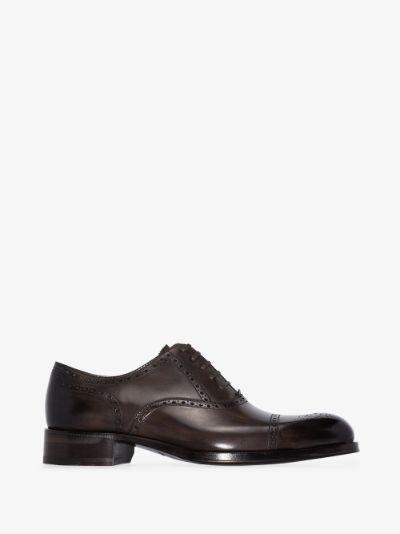 brown edgar leather brogues