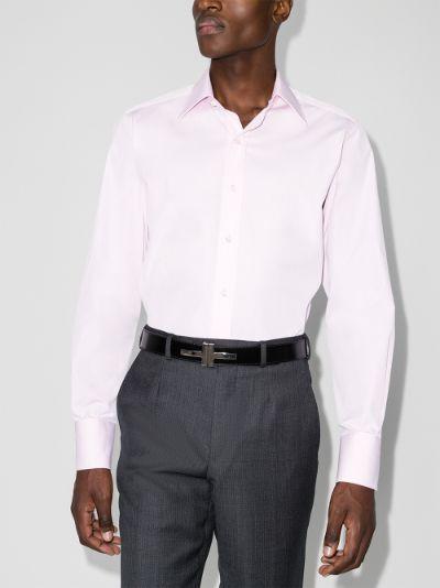 button-up cotton poplin shirt