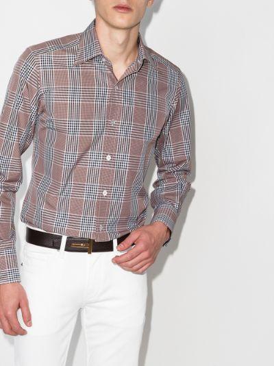 check print Oxford shirt