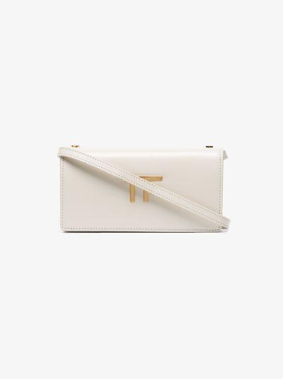 cream TF leather mini bag