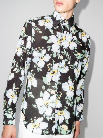 Dark floral print shirt