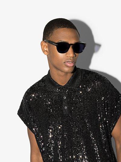 black Bryan round sunglasses