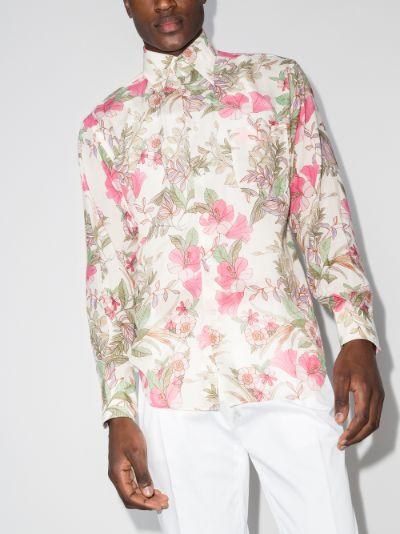 Floral Print Button-Up Shirt