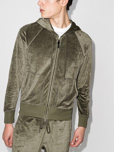 fluid zip-up hoodie