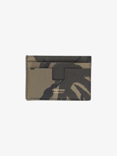 khaki camouflage leather card holder