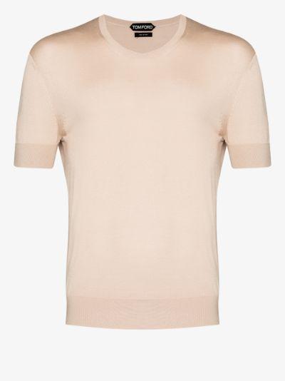 knitted silk T-shirt