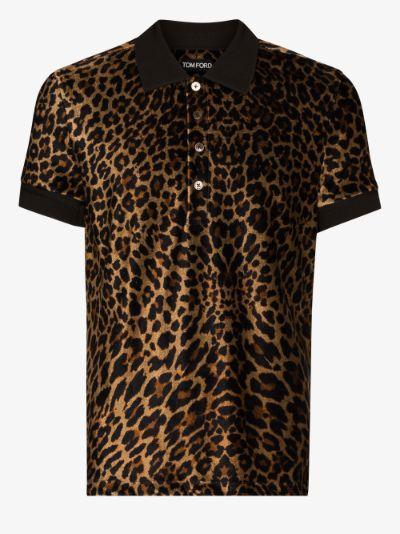 leopard print polo shirt