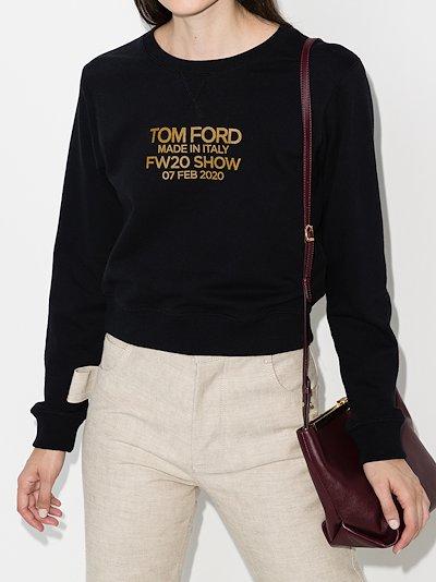 logo print cropped sweatshirt