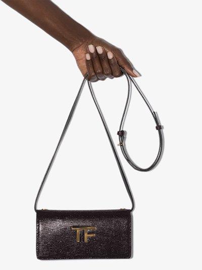 purple Box Palmellato TF mock croc shoulder bag