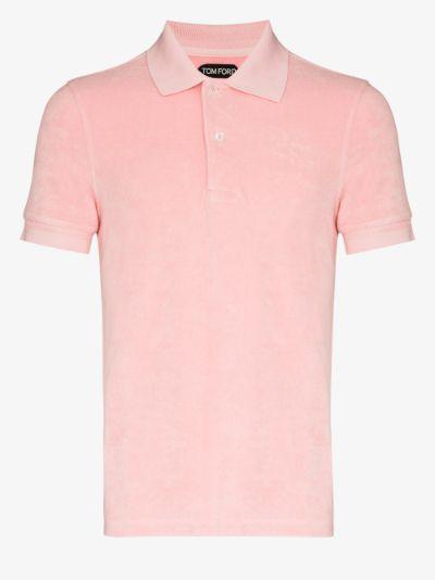 Toweling short sleeve polo shirt