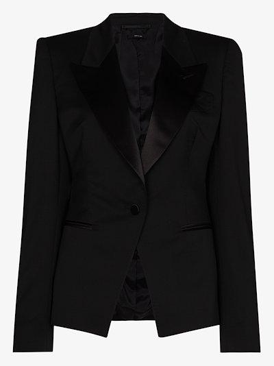 tuxedo wool blazer