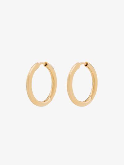 9K yellow gold Classic small hoop earrings
