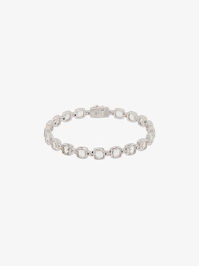 sterling silver Cushion crystal bracelet