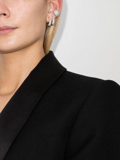 sterling silver Liz crystal ear cuff