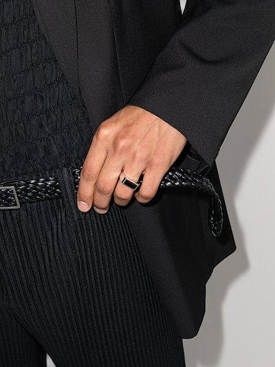 sterling silver Peaky onyx ring