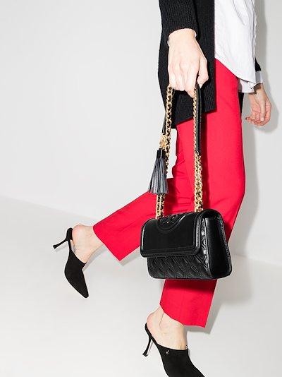 black Fleming small leather cross body bag