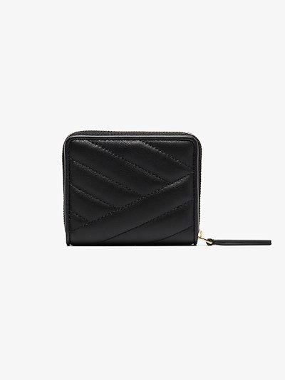Black Kira chevron fold wallet