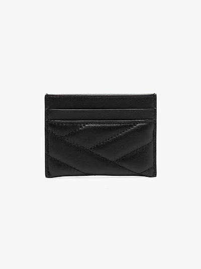 black Kira leather card holder