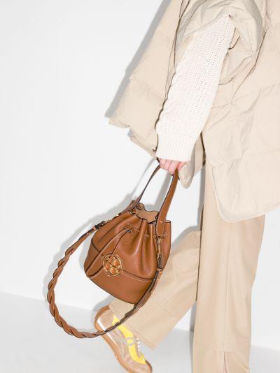 brown Miller leather bucket bag