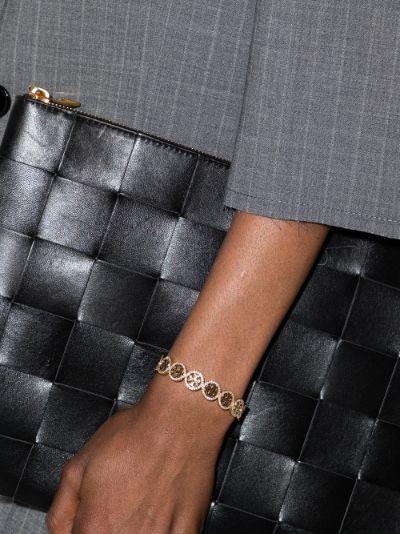gold tone Miller crystal cuff bracelet