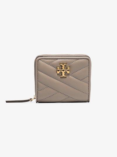 Grey Kira chevron fold wallet