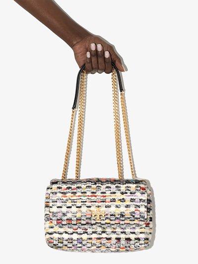 Multicoloured Kira Small Convertible Tweed Shoulder Bag