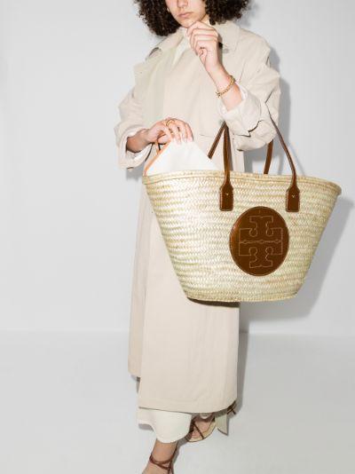 neutral Ella basket tote bag