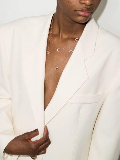 rose gold tone Miller crystal necklace