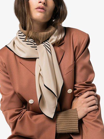 beige and black Venezia silk scarf