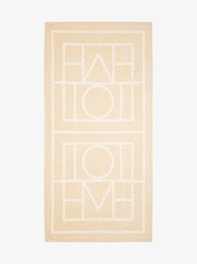 beige Biarritz logo beach towel