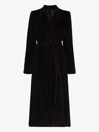 belted wool wrap coat
