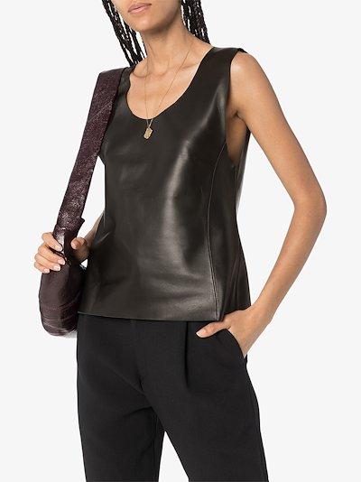 Bergara sleeveless leather top