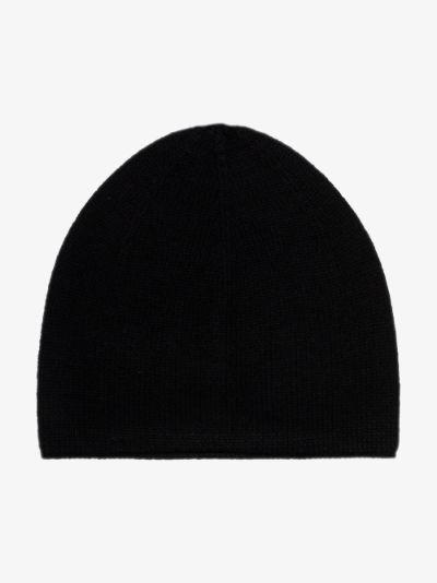 black cashmere beanie hat